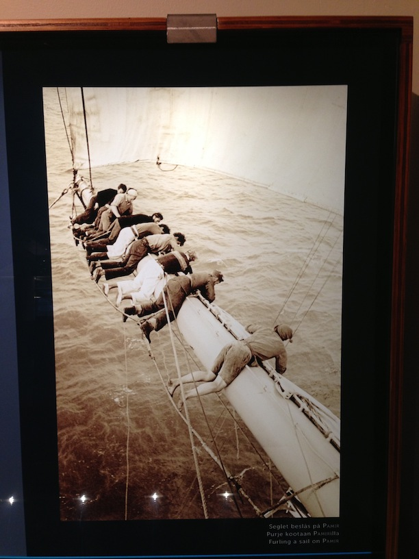 Photos from belowdecks on the 'Pommern' depicting life at sea.