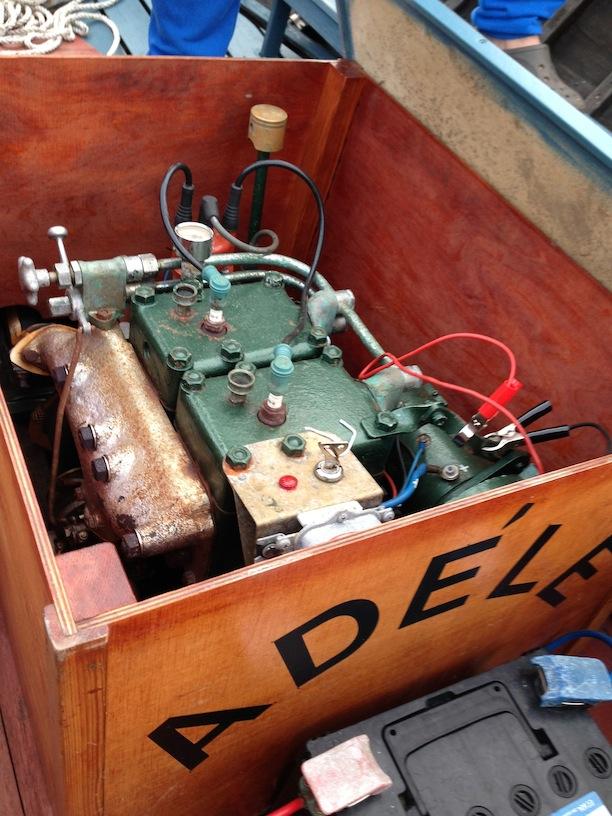 'Adele's' 1940s era gasoline two-cylinder.