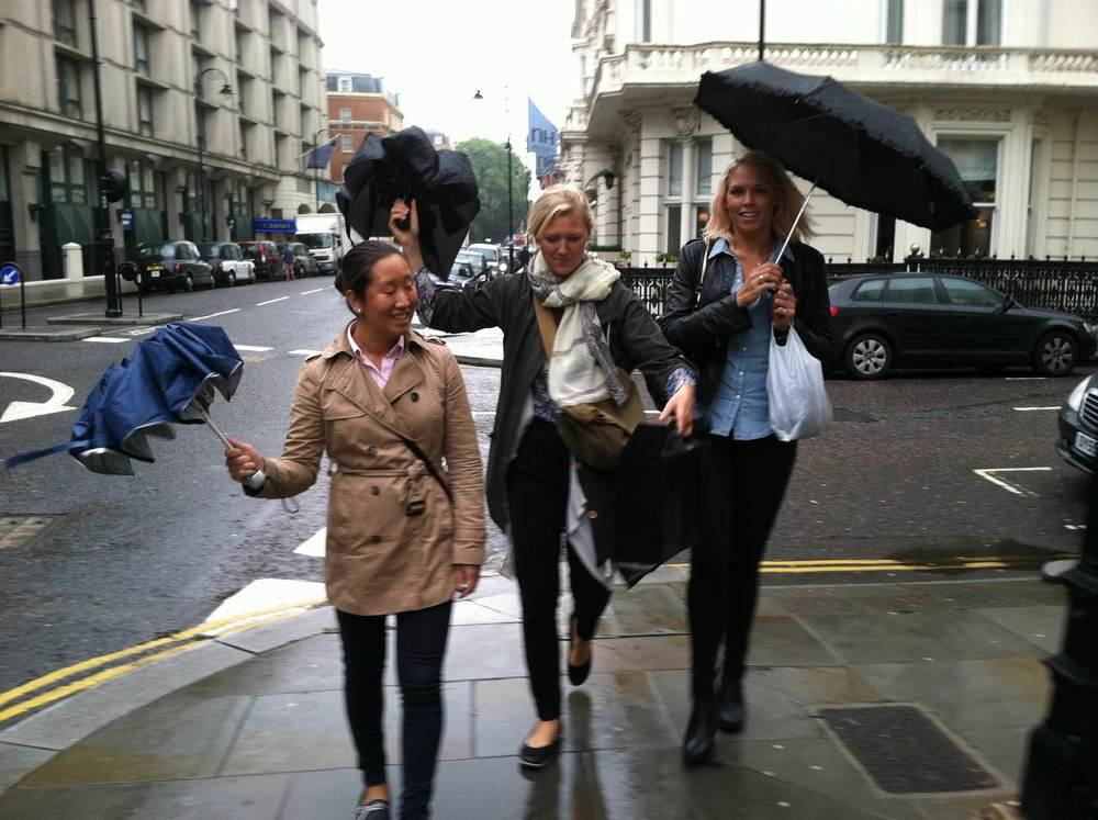 Mysigt med regn den första dagen, inte lika mysigt när skorna inte torkade på hela veckan.. :)