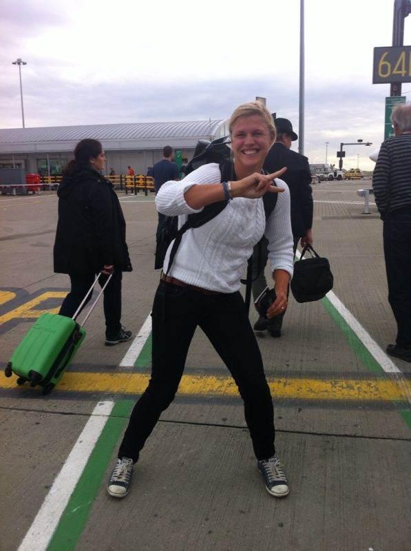Jag o Anna landade i London med Ryan Air