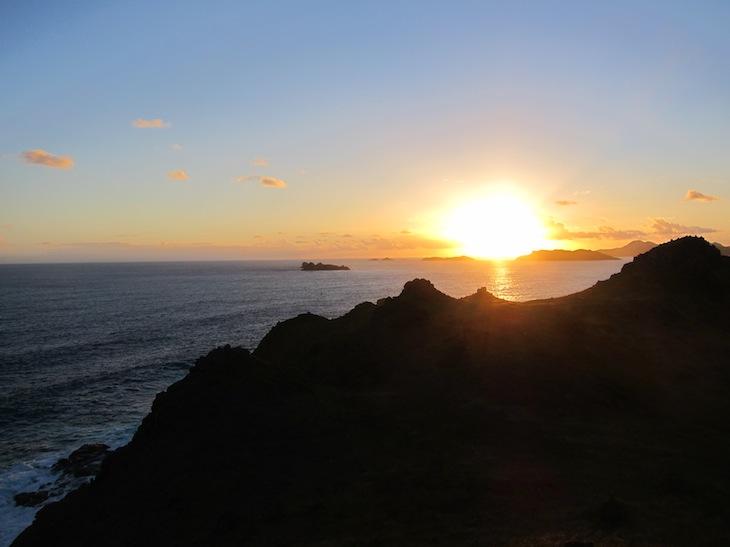 Underbar soluppgång vid Ile Fource