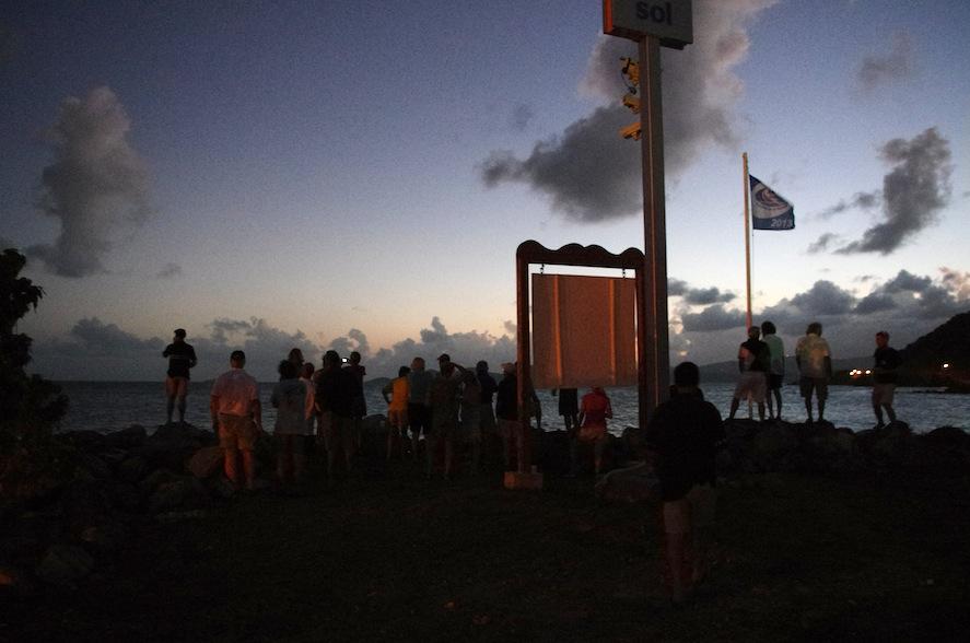 Sojourner fick ett stort v'lkomnande av alla när de kom in till Nanny Cay