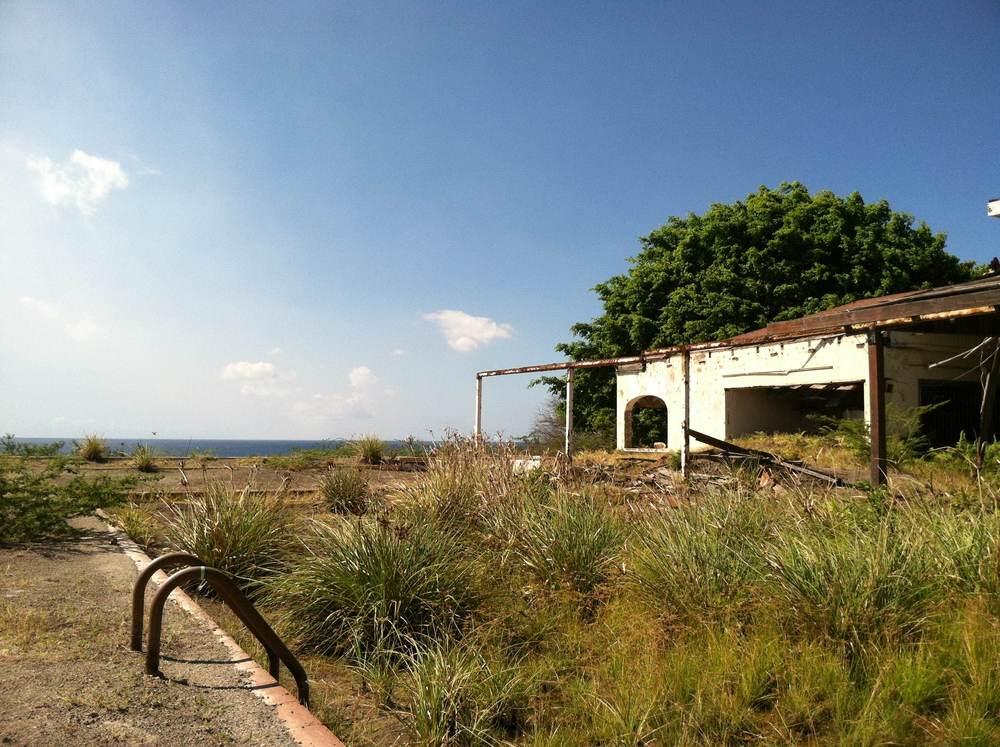 Hotellet i Montserrat som nu är ödelagt pga vulkanen
