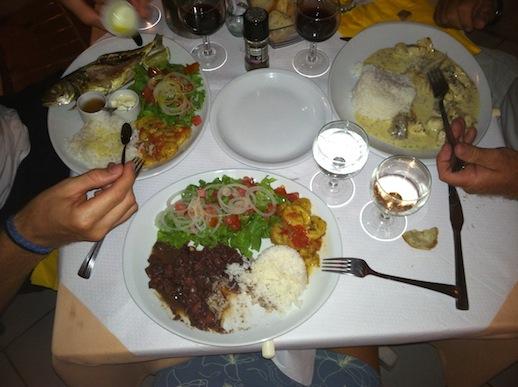 Les Saintes - Jag åt Calamarigryta och Andy fisk! :)