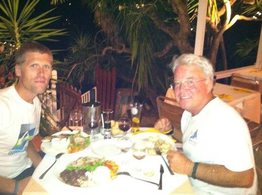 Fantastisk middag på Les Saladerie med Andy o Dennis
