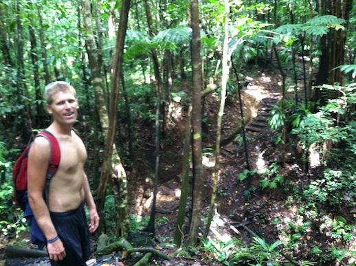 Dominica - promenad genom fantastisk regnskog på väg mot Middleham Falls