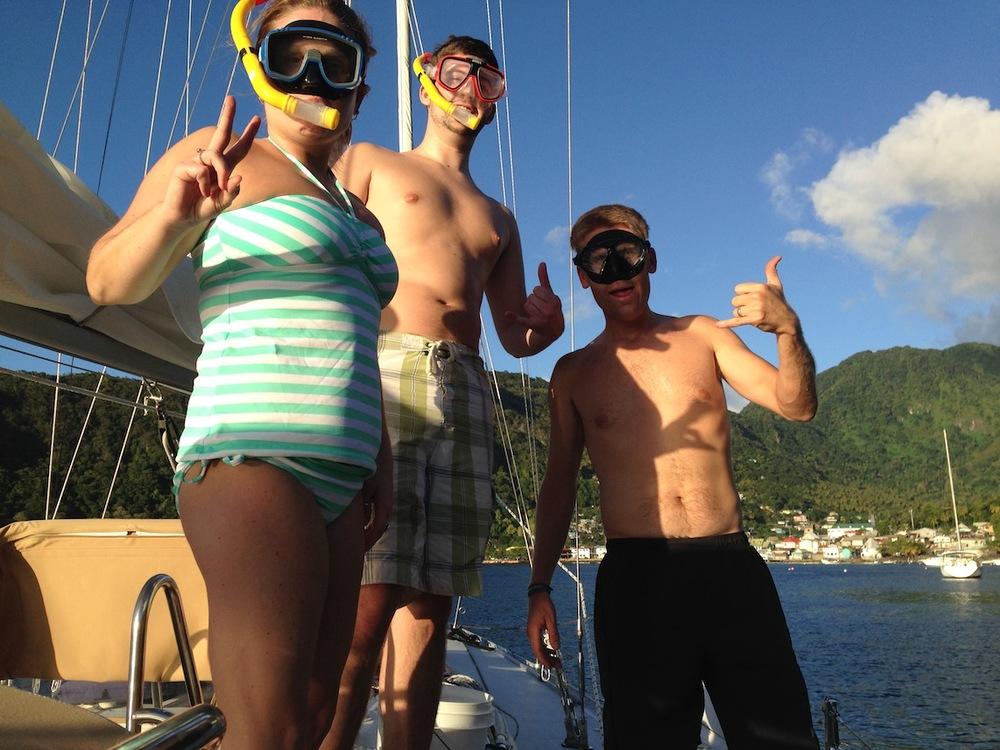 Soufriere - simtur från båten!