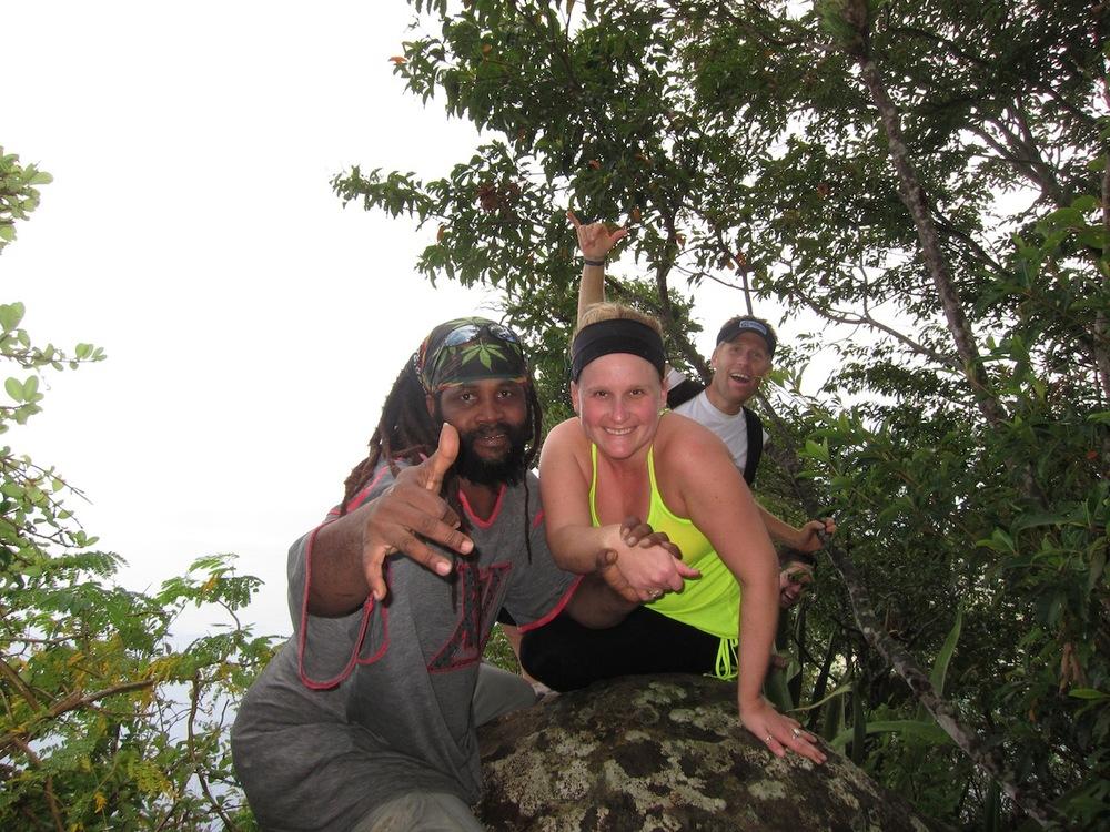 Petit Piton - Kaitie o vår guide Shabba