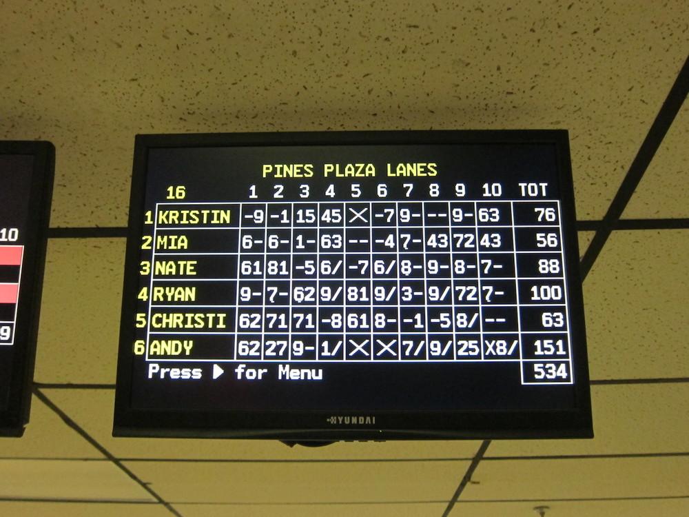 Andy vann 1:a och sista rundan, jag spelade mindre bra och skyller på min onda hand!