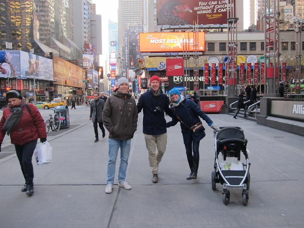 Andy, Fredrik och Kristina i NYC