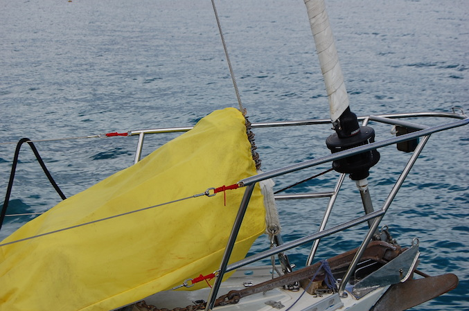 Kevin's first encounter with Sojourner. He likes the solent rig (so do I)