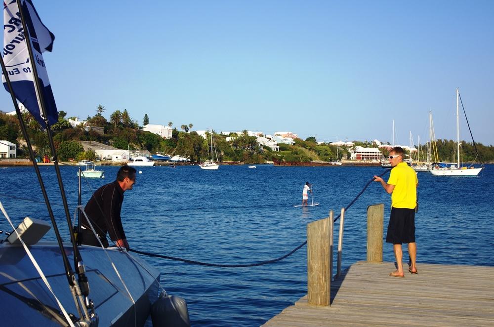 Andy välkomnar första båten 'Tosca*