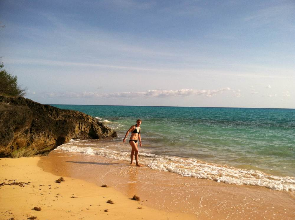 Morgondopp vid 'vår lilla strand' två dagar i rad!