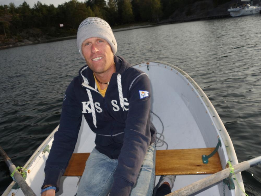 Rodde in till Nåttarö för vår kvällspromenad