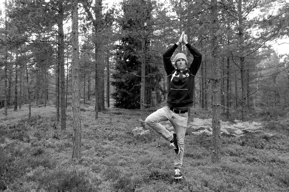 Andy's best tree pose.