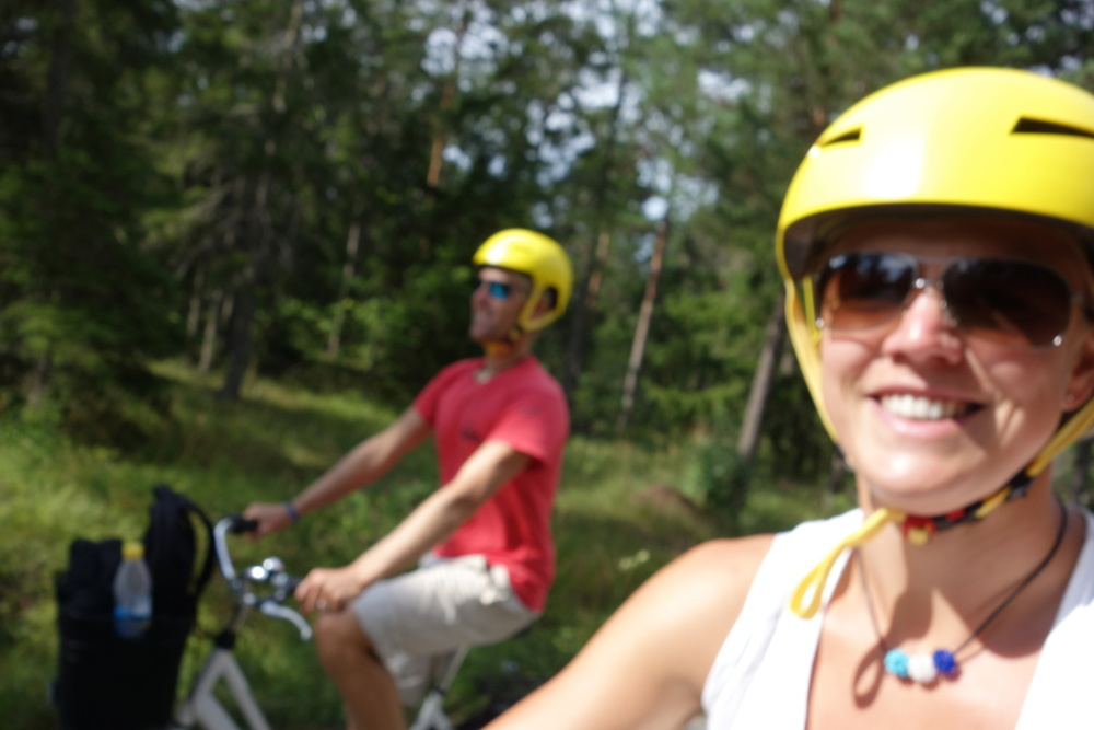 Cycle tour around northern Gotland...50 kilometers in half a day.