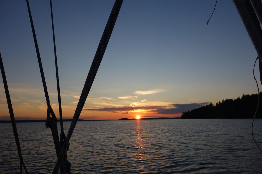 Solnedgången i Mälaren sista kvällen innan semestern var slut...
