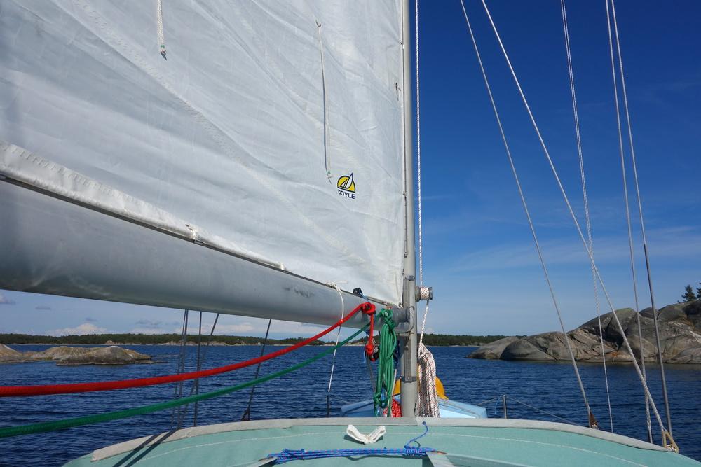 Segling till Sandhamn, fantastisk skärgård vi seglade genom.