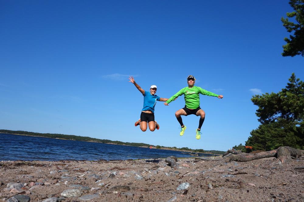 Klassisk hoppbild på Sandhamn