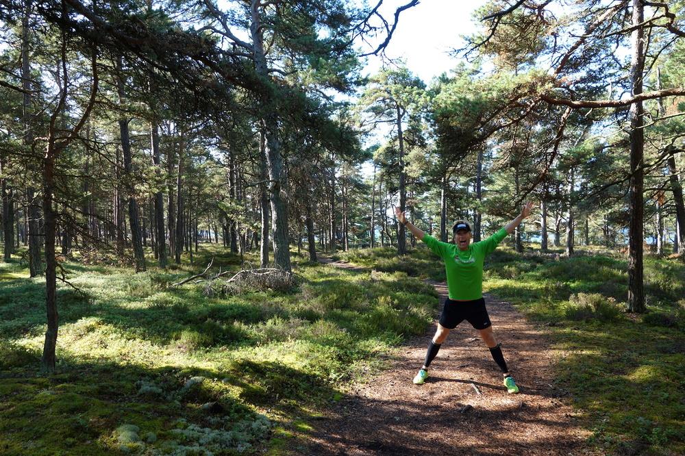 Joggingtur genom Sandhamns skogar