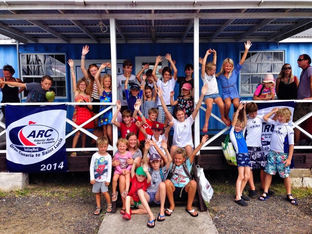 ARC kids på väg till St. Lucia Yacht Club :)