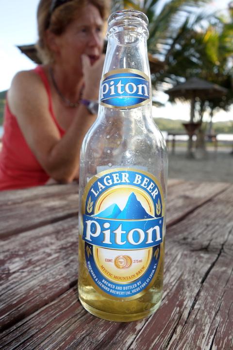 Piton är bästa ölen här i St. Lucia