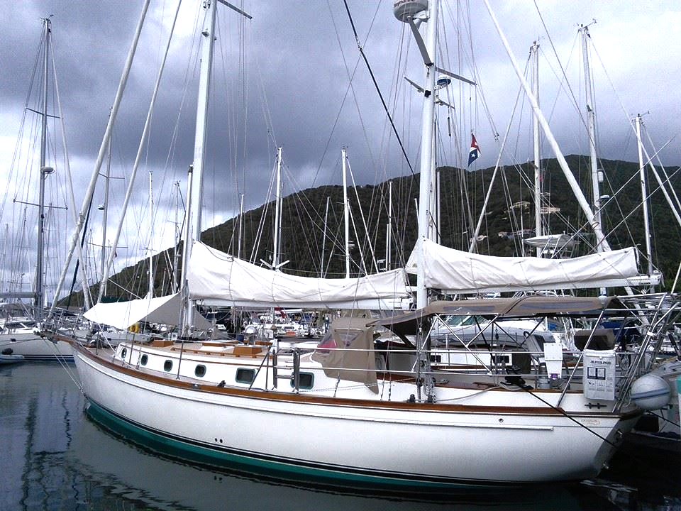Serenity before departure in Nanny Cay marina, Tortola BVI