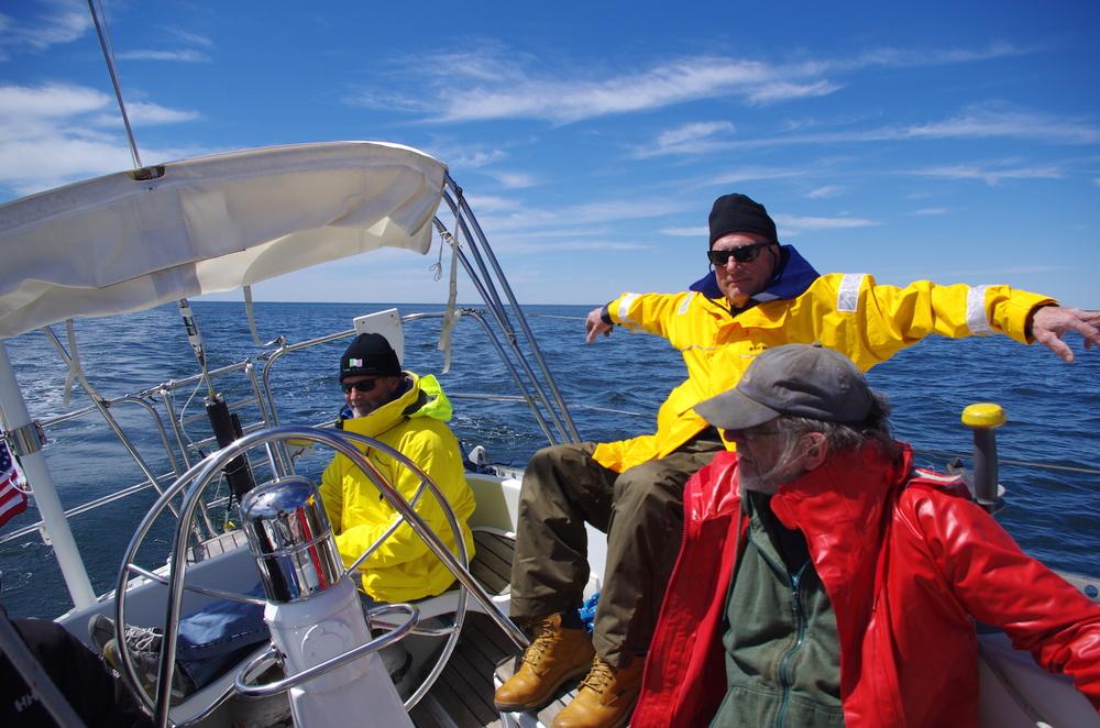 Våra vänner Tom, Rodney och Jim som hjälpte oss att segla ner båten till Annapolis!
