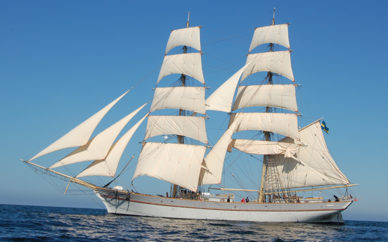 Tre Kronor under full sail. Photo credit: www.sta-sweden.se