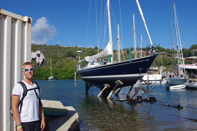 Hauling out at slipway...nerve wracking!