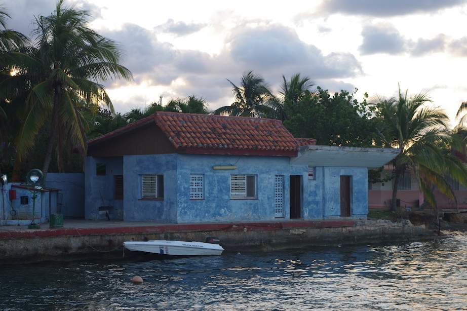 Cuban marine police...