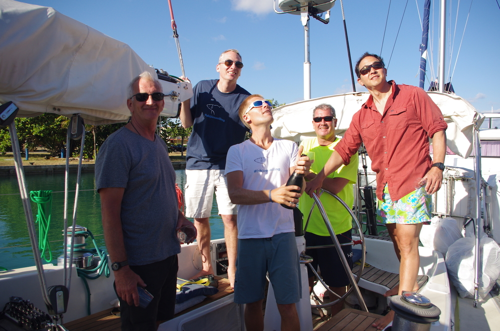 Champagne! (Dennis, Greg, Andy, Fred & Rob)