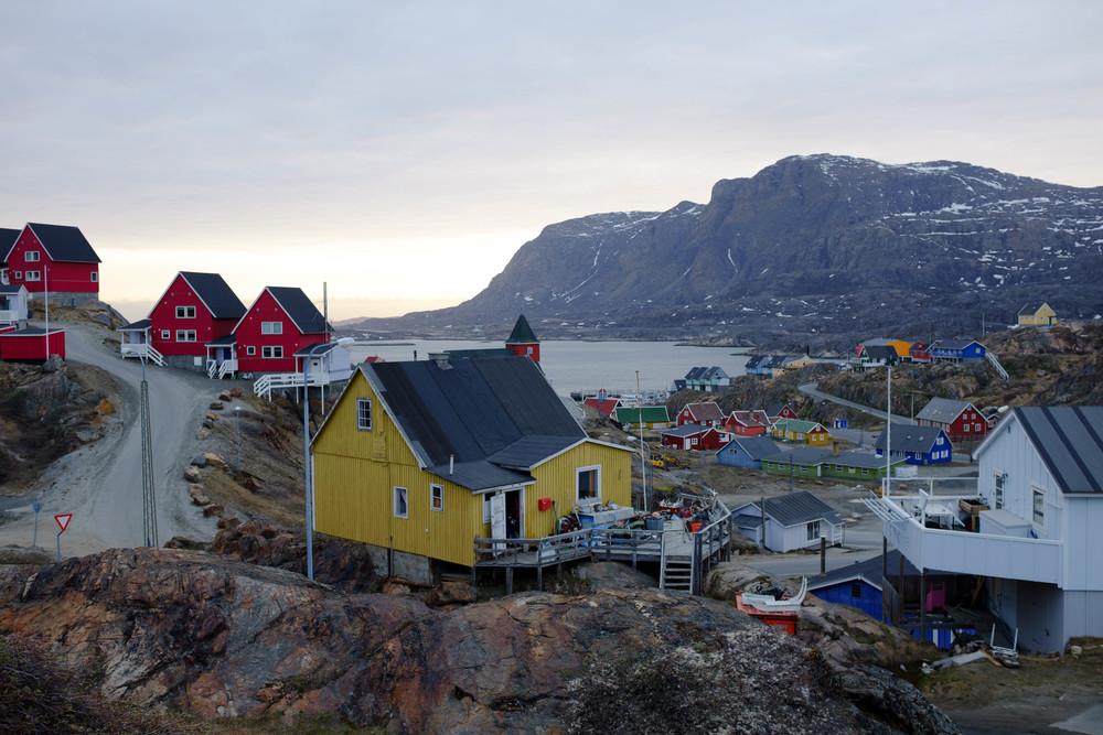 Sisimiut, Greenland, above the Arctic Circle.