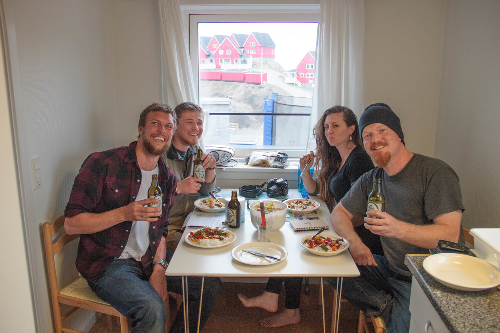 The Ocean Research Project Greenland Expedition Crew - Matt Rutherford & Nicole Trenholm on the right, Dana & Alex on the left.