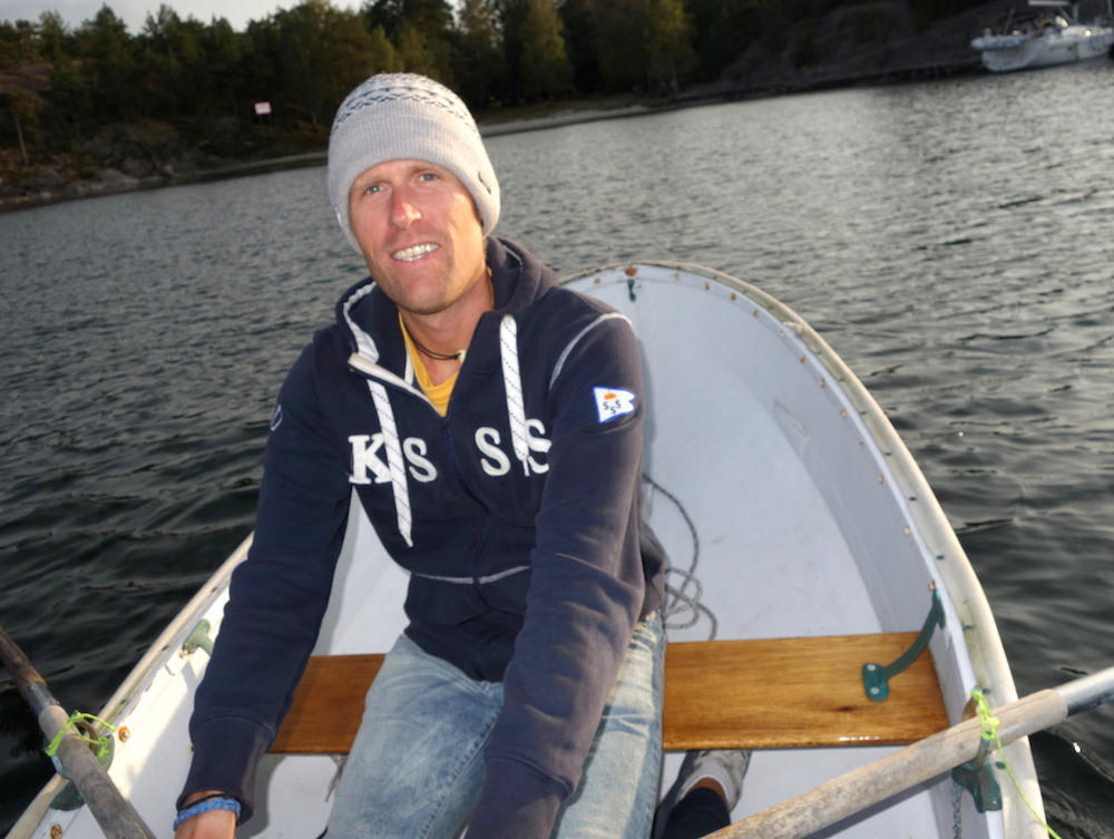 Morning dinghy ride in the Sthlm Archipelago
