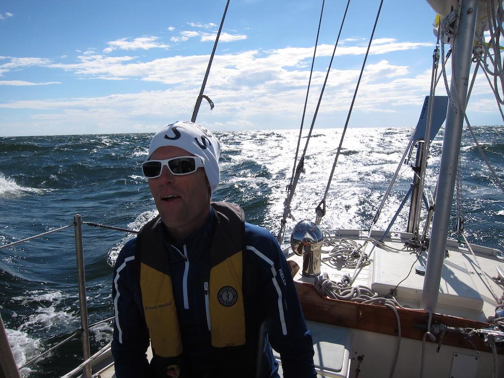 Sailing across Ålands Hav from Granhamn, Sweden to Mariehamn, Åland