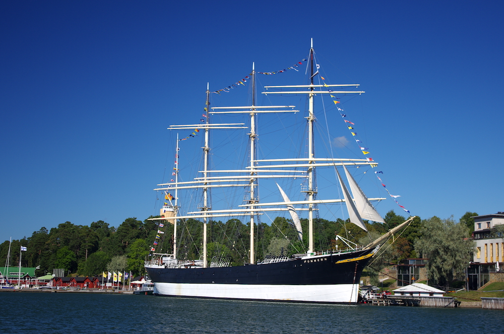 Pommern, a square rigger now museum in Mariehamn, Åland
