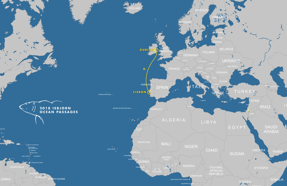 Note we're starting in Oban, Scotland, NOT Dublin. Need to update the map!