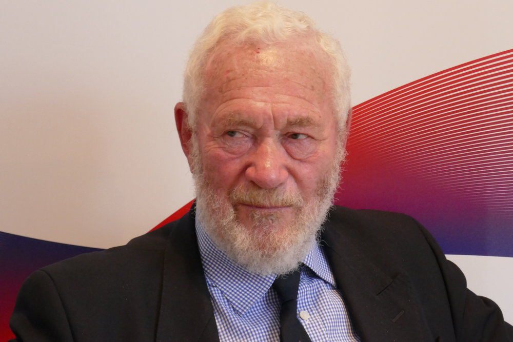 Sir Robin Knox-Johnston - that look! Toughest guy I've interviewed, in many ways!