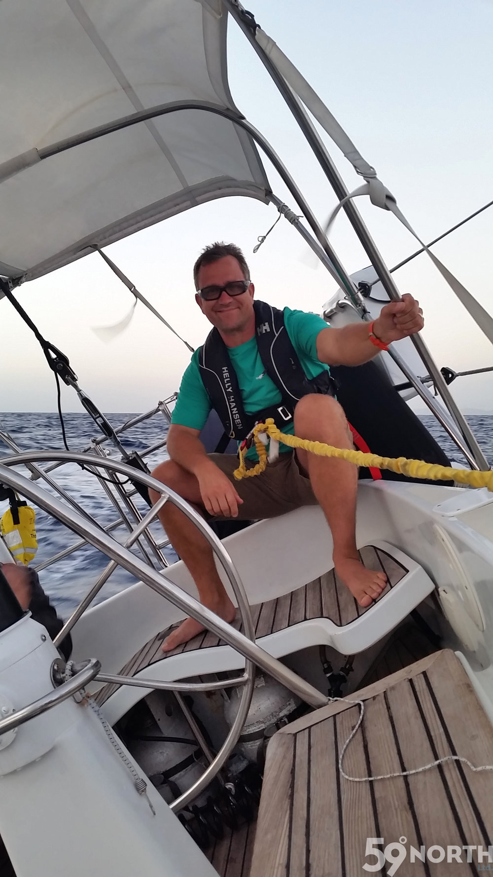Greg enjoying the sail!