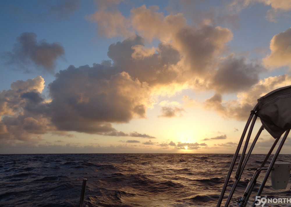 First sunset offshore