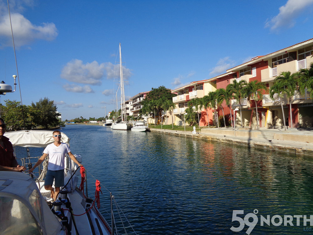 After clearing custom, we entered the Marina Hemingway, just outside Havana