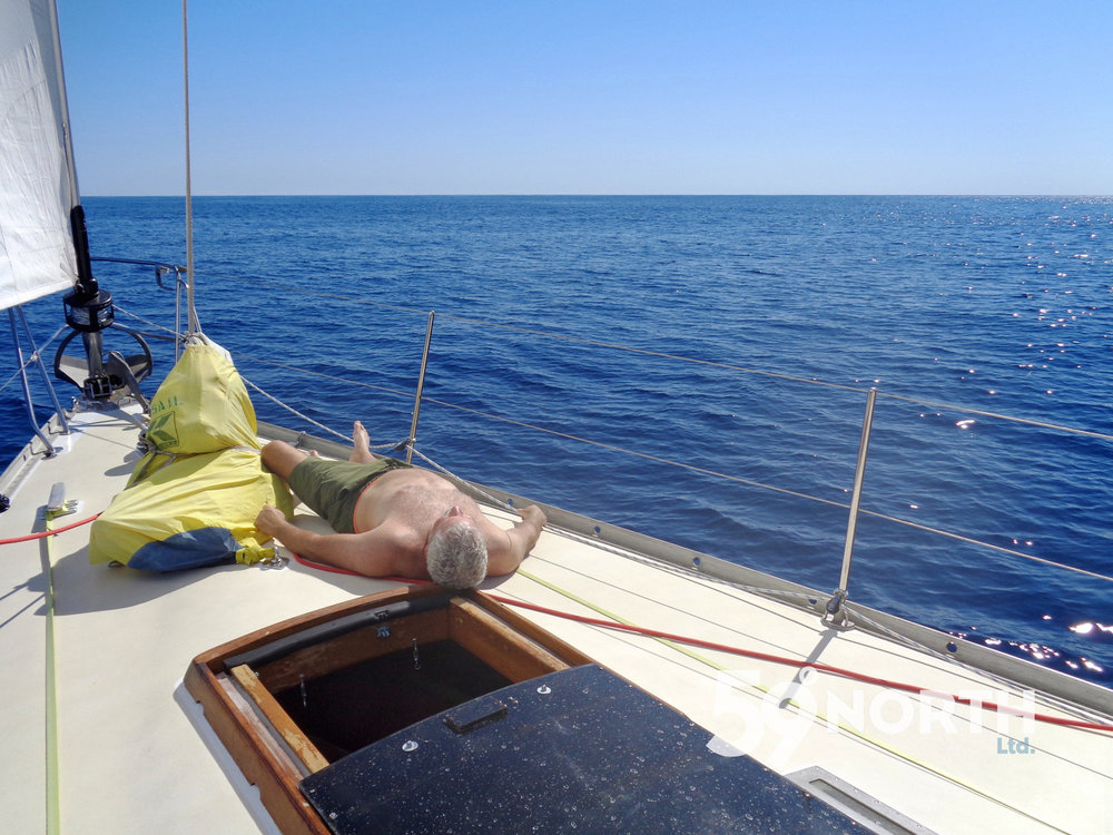 Foredeck nap!
