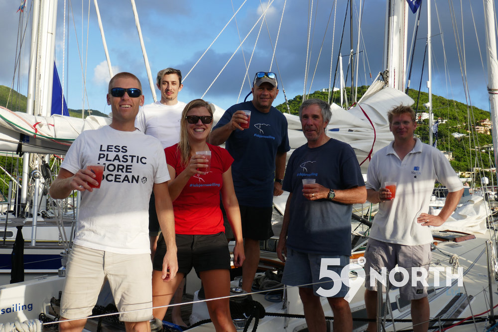 Crew from left: Capt Andy, David, Mia, Tom, Bruce and Ed