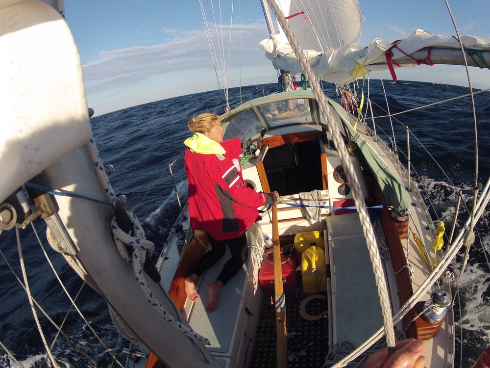 Sailing  Arcturus  across the Atlantic, first time Andy and I sailed double-handed. for more than just a few days.