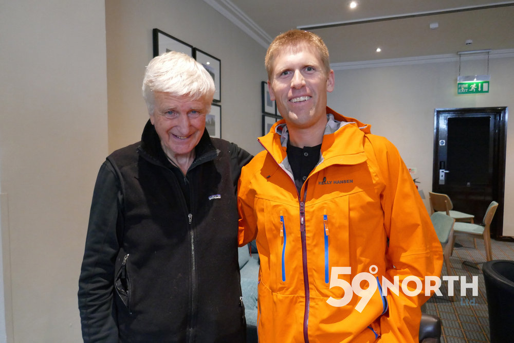 Met up with Bob Shepton at the Southampton Boat Show for another 'On the wind chat'. Sept. 2016