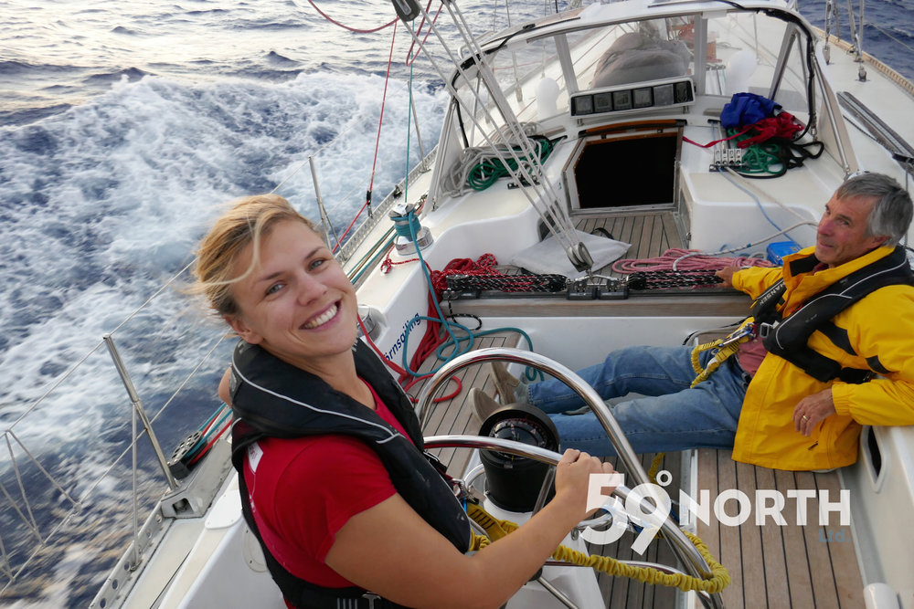 Leg 10, the last leg of 2016 from Chesapeake to BVI. Awesome sailing! Nov. 2016