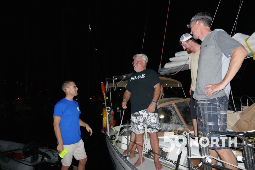 Andy's dad Dennis and crew on Sojourner arrived to BVI a few days after Isbjorn in the C1500. First time they both were out sailing at the same time but on different boats. November 2016