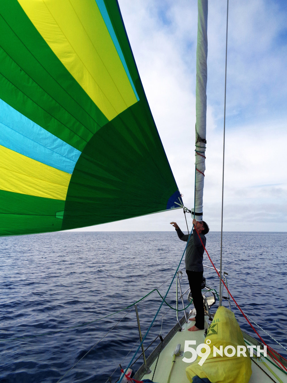 Amazing spinnaker run on the way back to Lunenburg! Aug. 2016