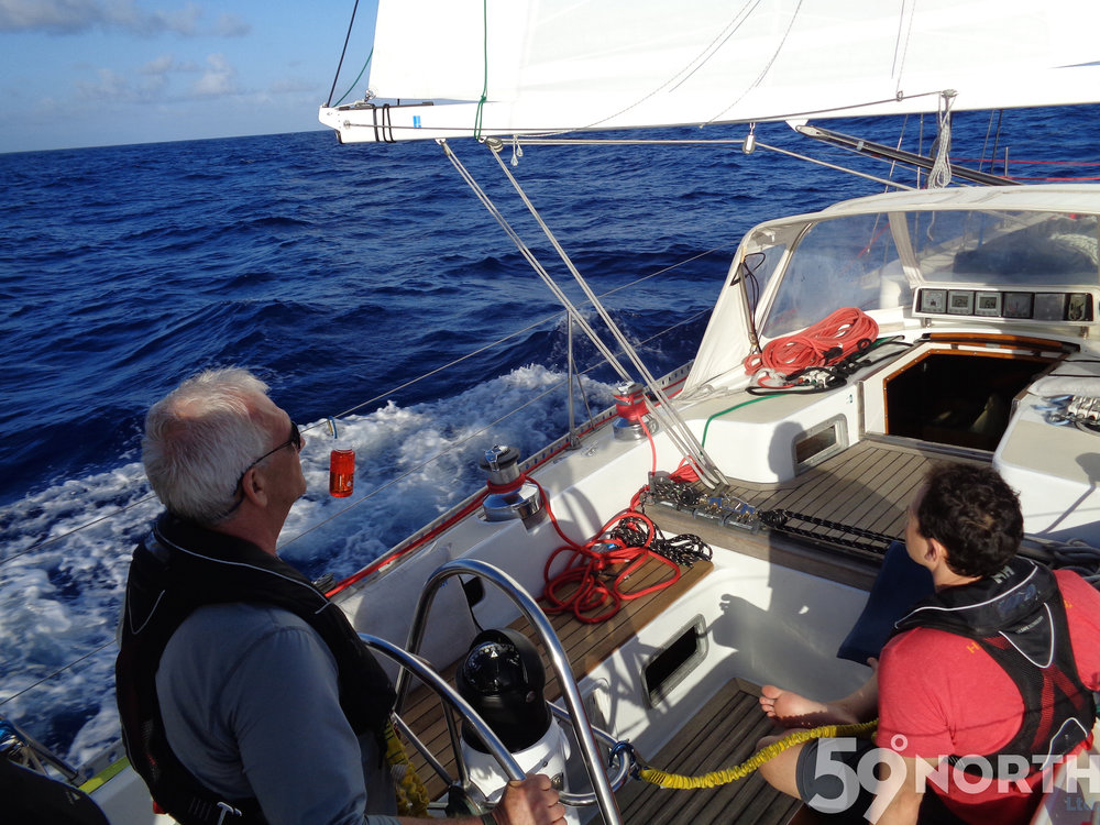 Offshore on #isbjornsailing en route from Puerto Rico to Havana, Cuba in April 2016.